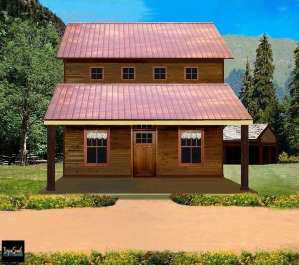 Front Elevation Of House With Porch : Taos mountain homes house plans plan